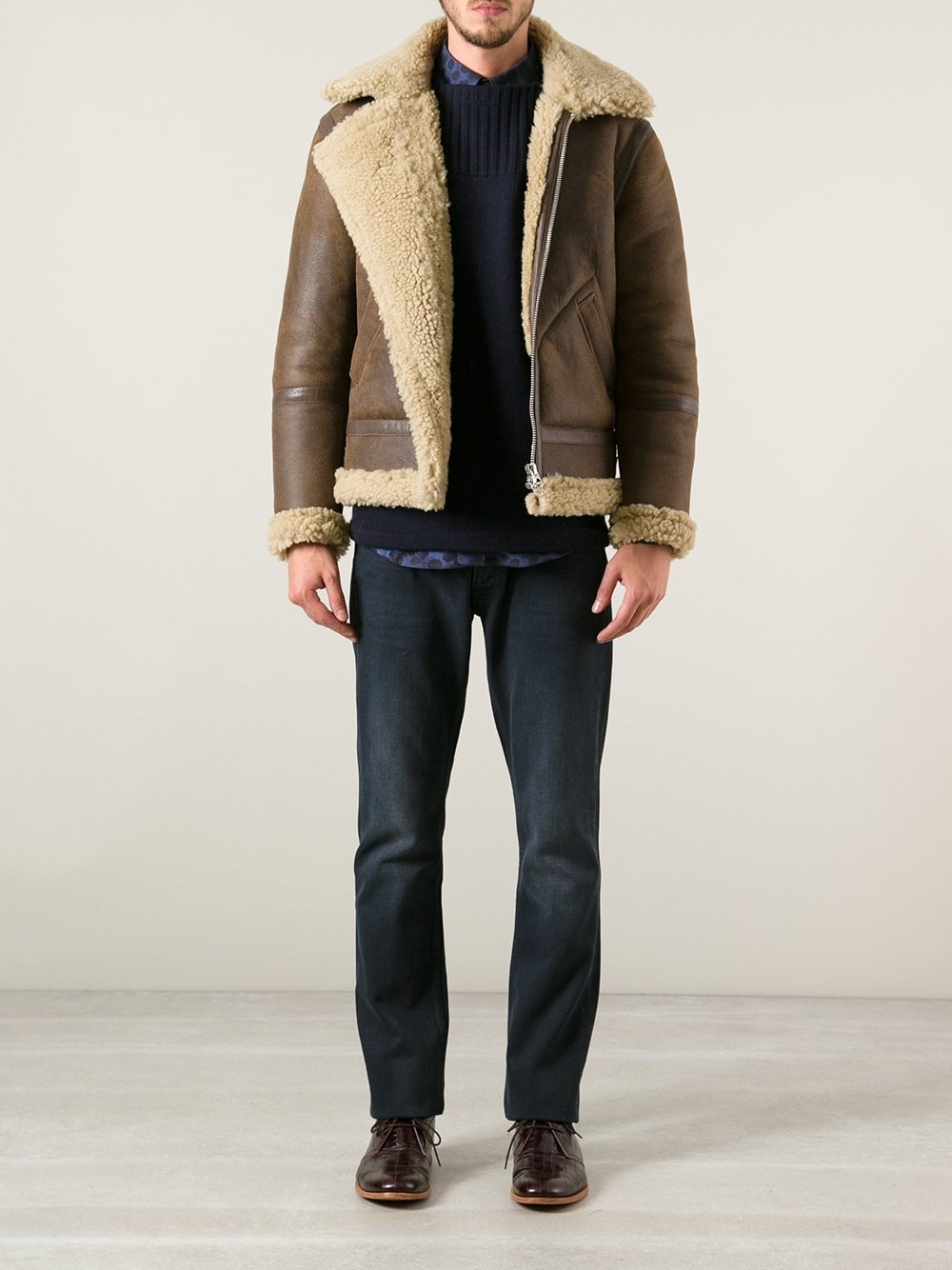 532a6b8ede6 Acne Studios 'Ian Shearling' Jacket in Brown for Men - Lyst