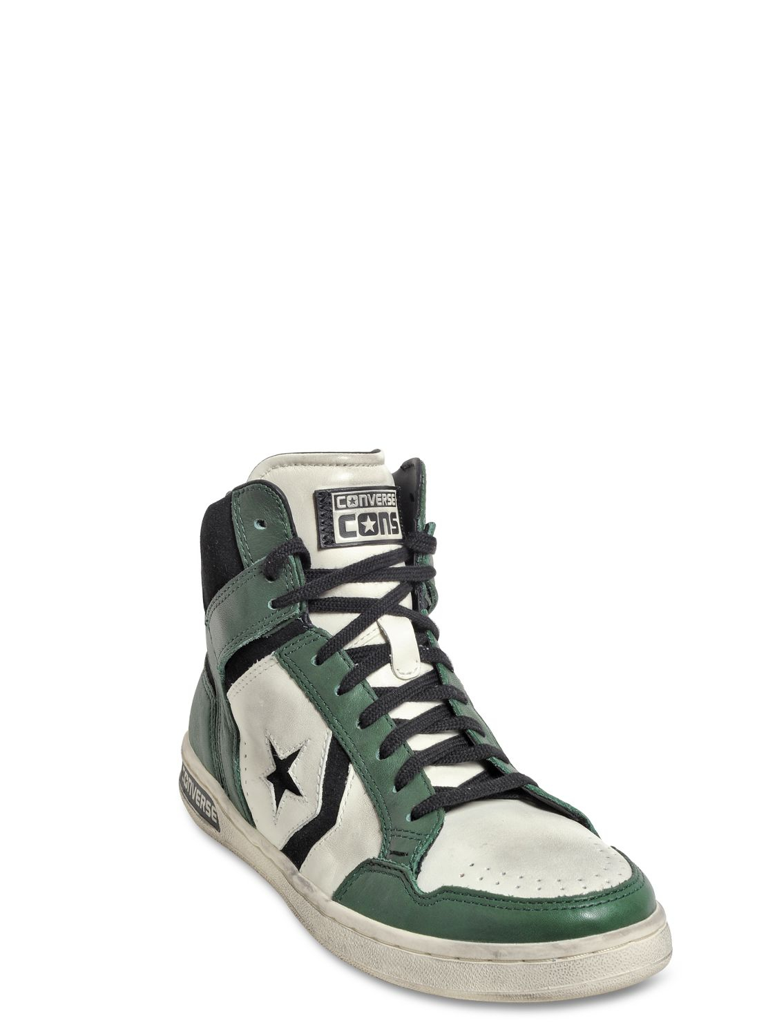 Lyst Converse Weapon Leather High Top Sneakers In Green