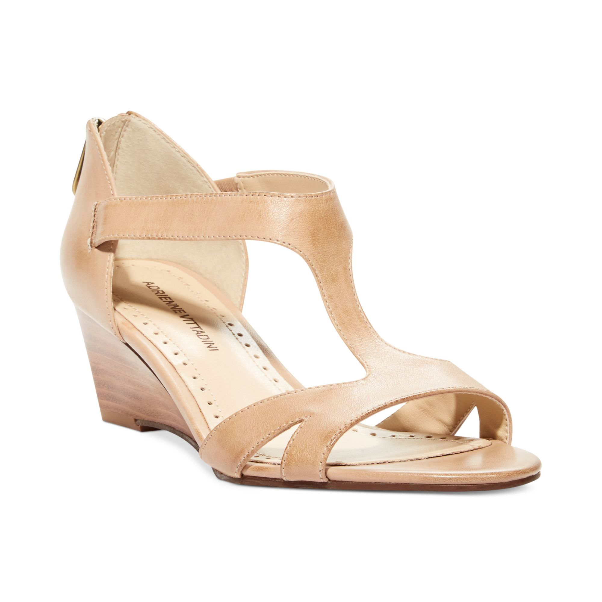 b946276a0ae Lyst - Adrienne Vittadini Cissy Mid Wedge Sandals in Natural