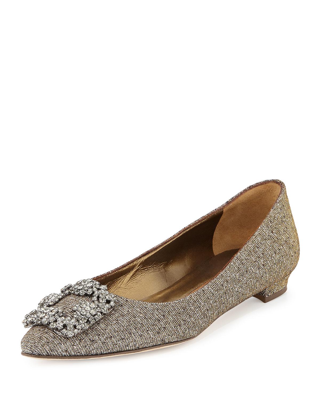 Metallic Flat Wedding Shoes