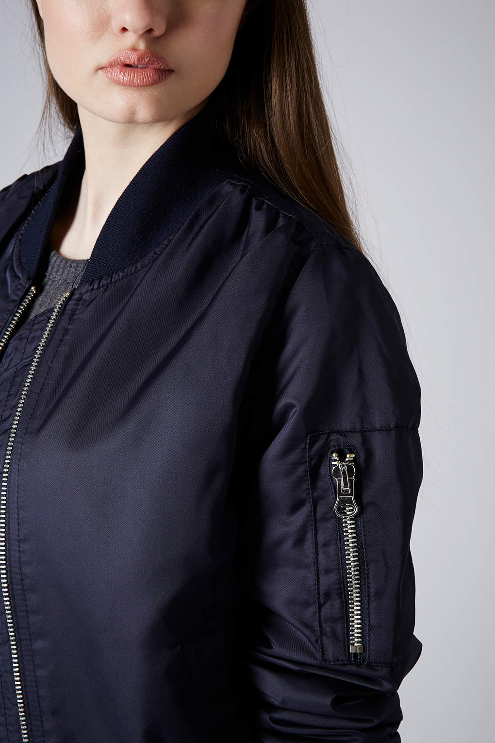 71132d19d40 Lyst - TOPSHOP Ultimate Ma1 Bomber Jacket in Blue