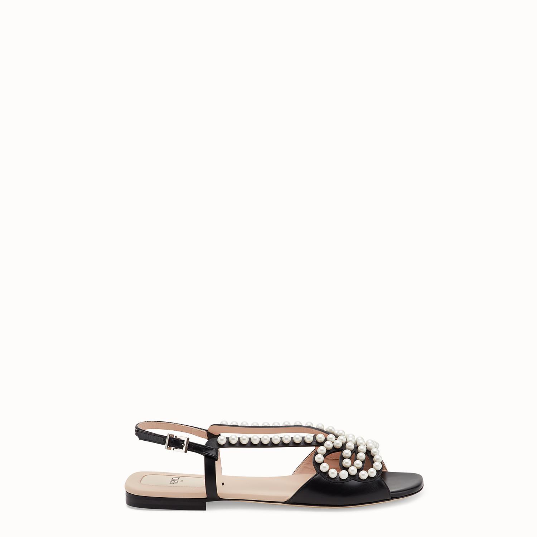 5e2e9a8bc8df1 Lyst - Fendi Sandals Sandals in Black