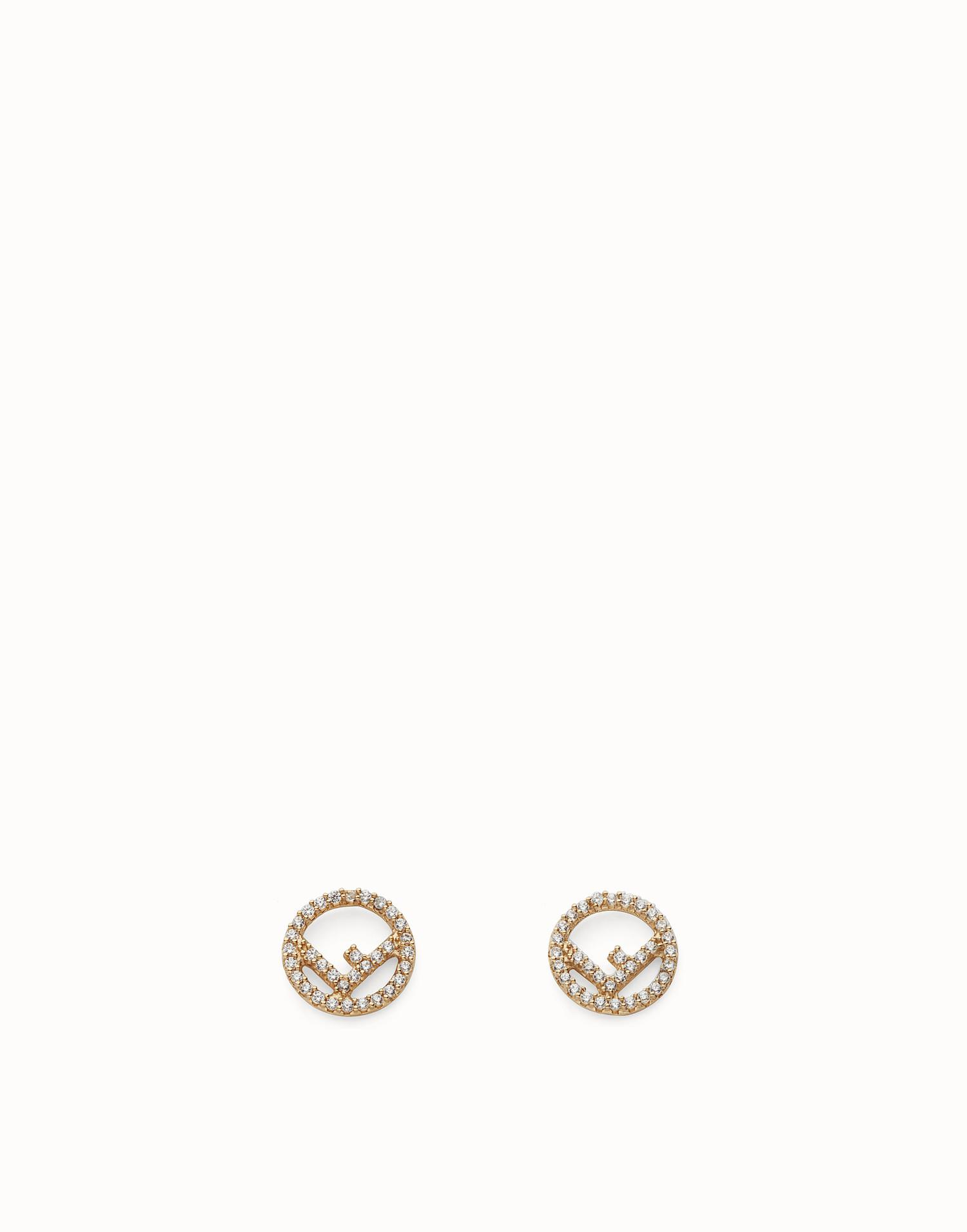 asymmetric earrings - Metallic Fendi kOXeZu3fH