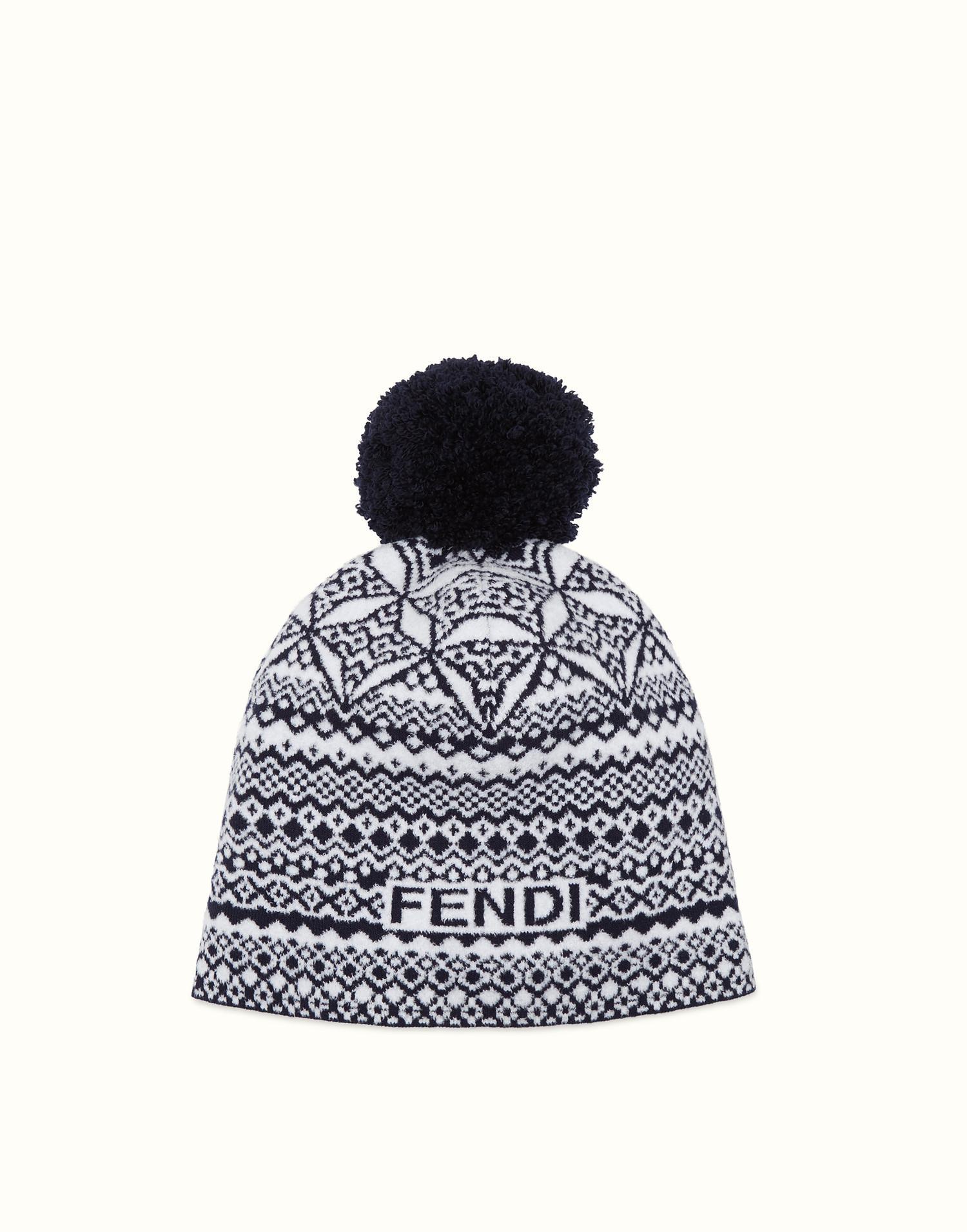 embroidered pom-pom beanie hat - Black Fendi YWg0DOa