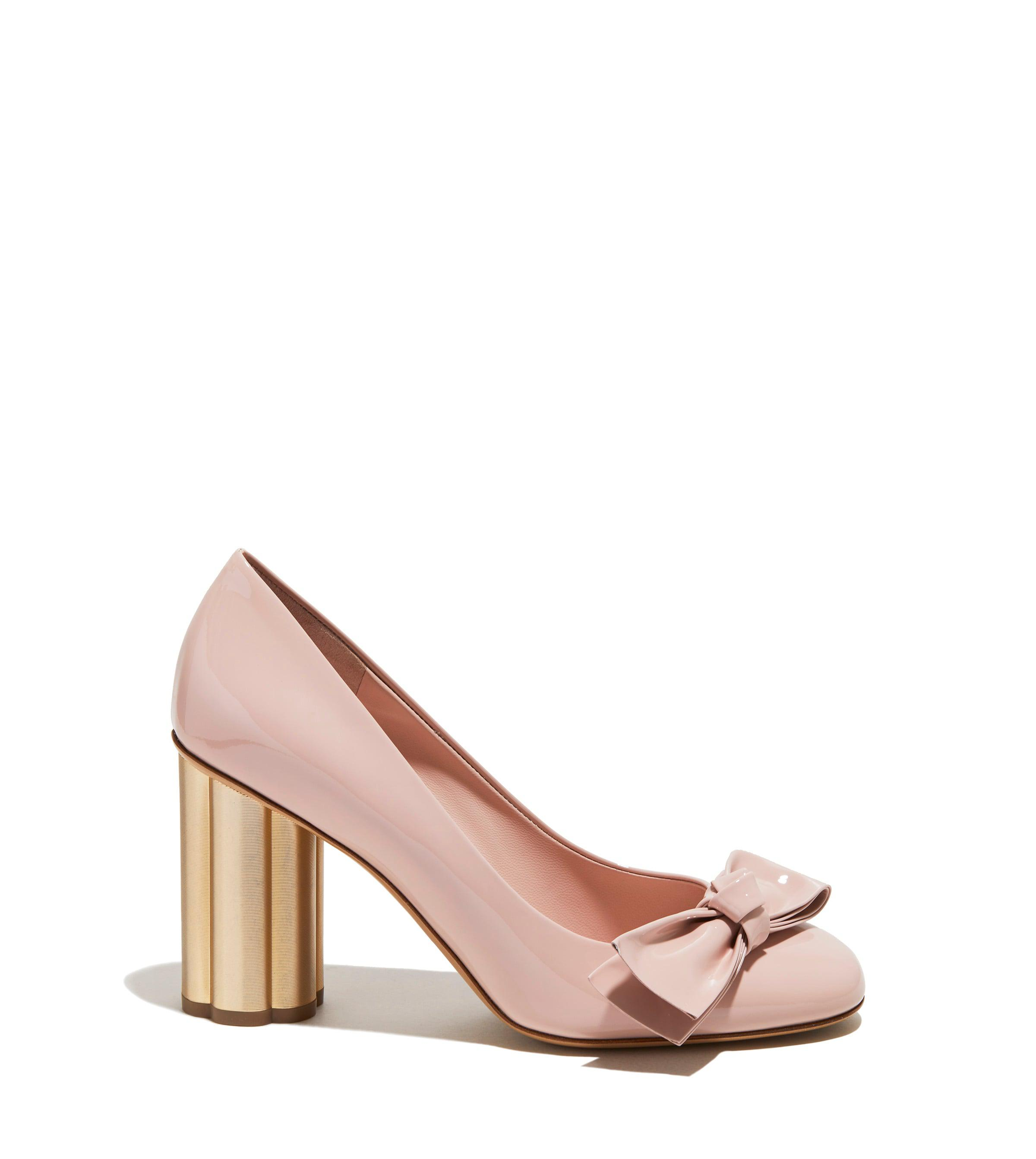 ad25bbc275d Lyst - Ferragamo Flower Heel Pump Shoe in Pink