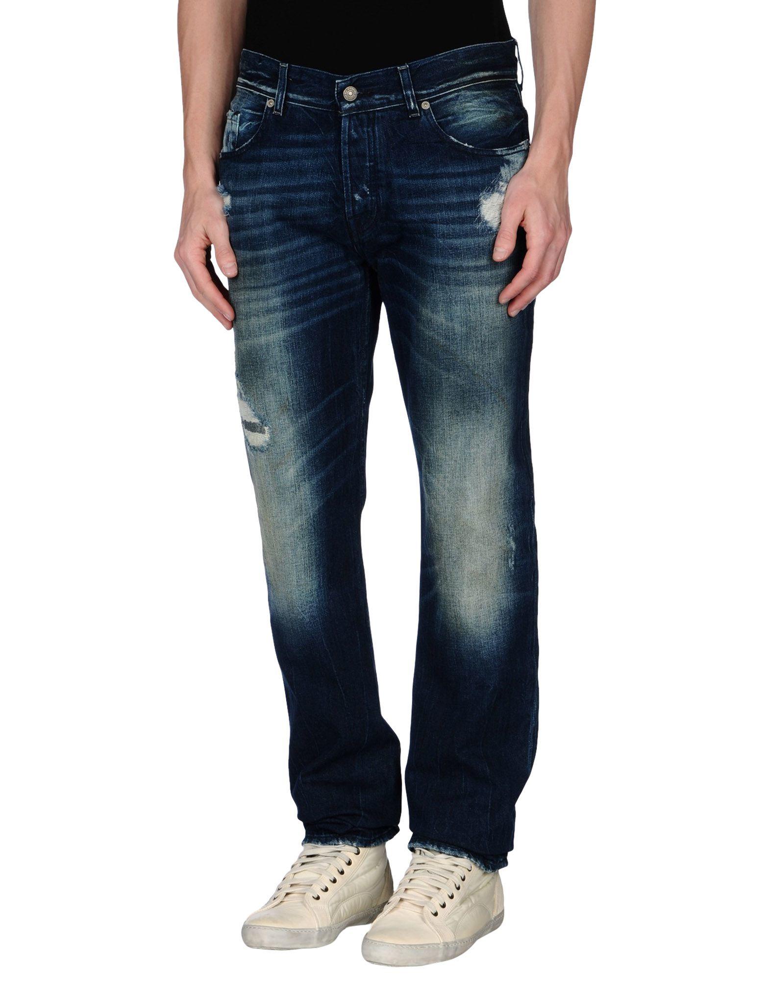 7 for all mankind denim trousers in blue for men lyst. Black Bedroom Furniture Sets. Home Design Ideas