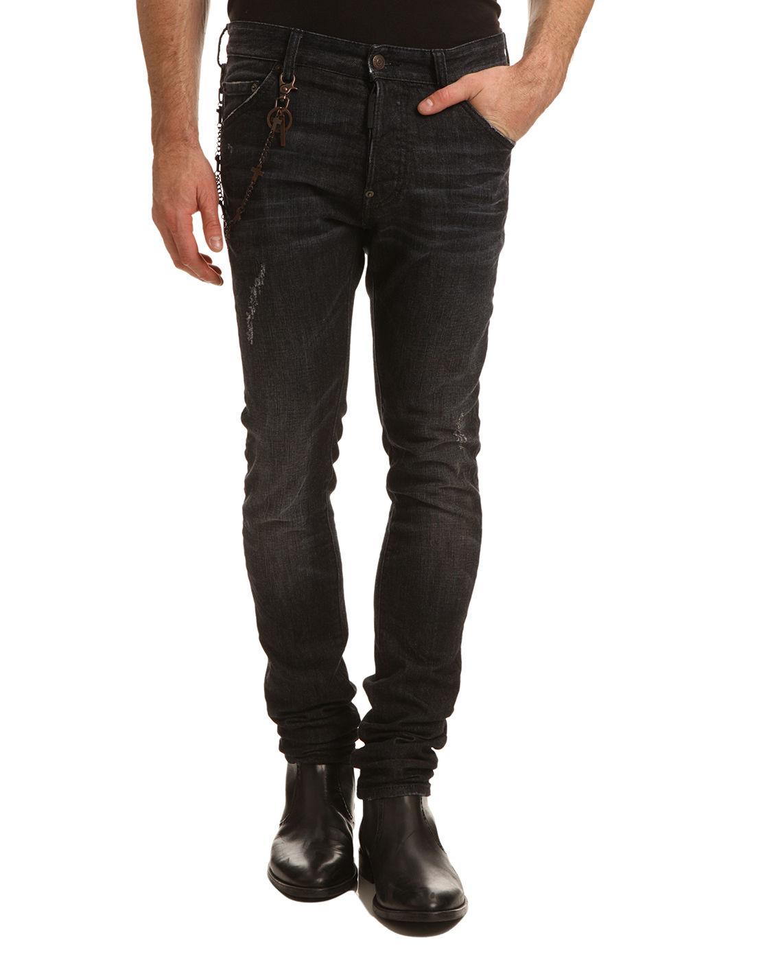 Mens Faded Black Jeans Ye Jean