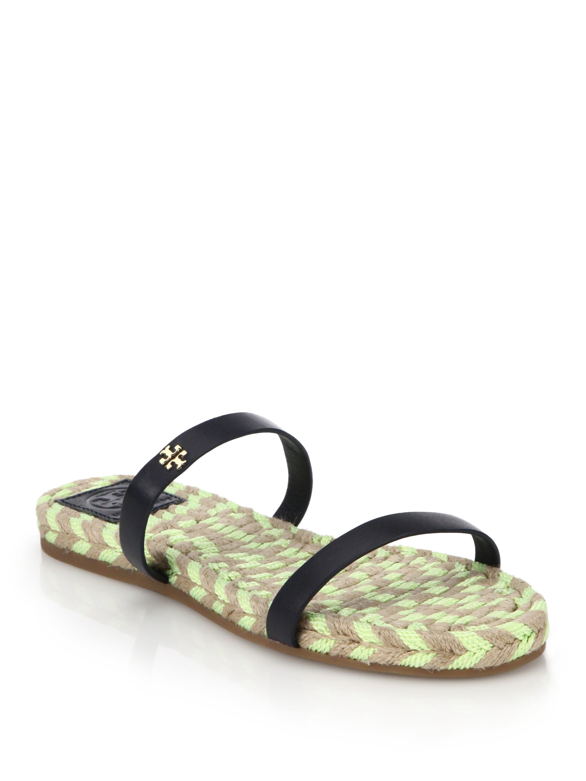 Tory Burch Leather Espadrille Sandals cheap classic 9j5g0R5