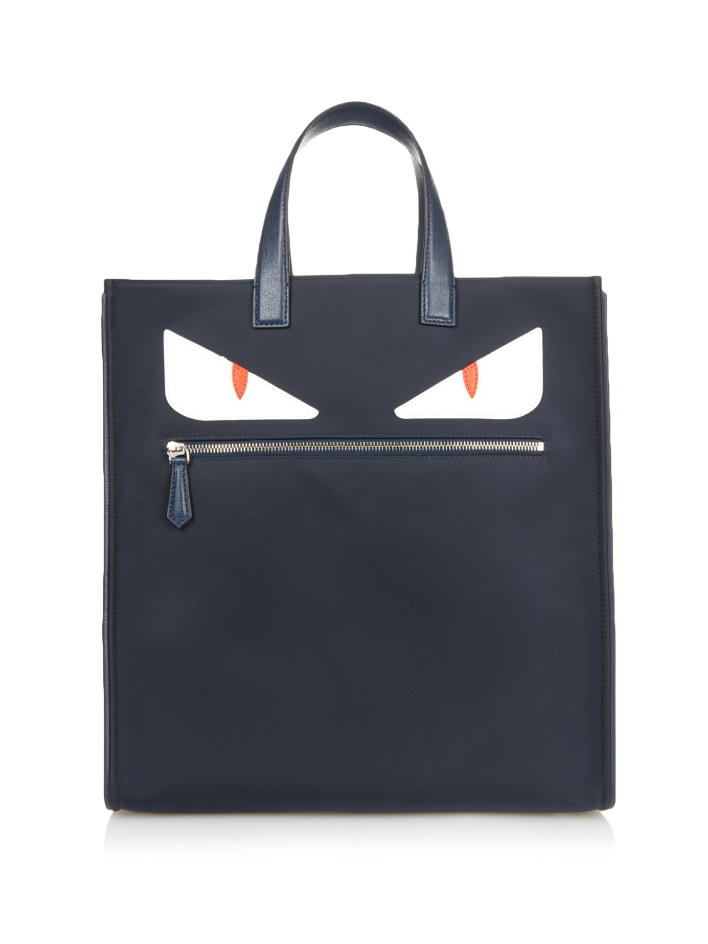 8a15d9c7335e Lyst - Fendi Bag Bugs Leather And Nylon Tote in Blue for Men
