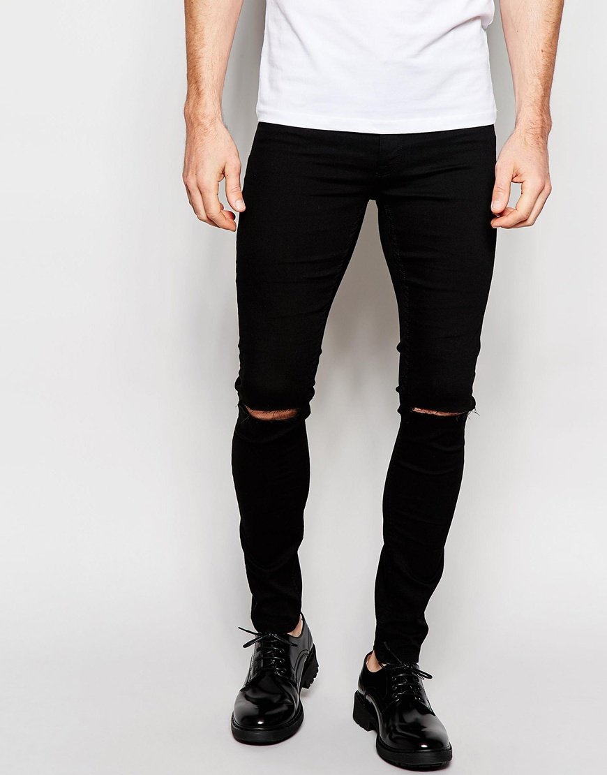 how to put rips in black jeans