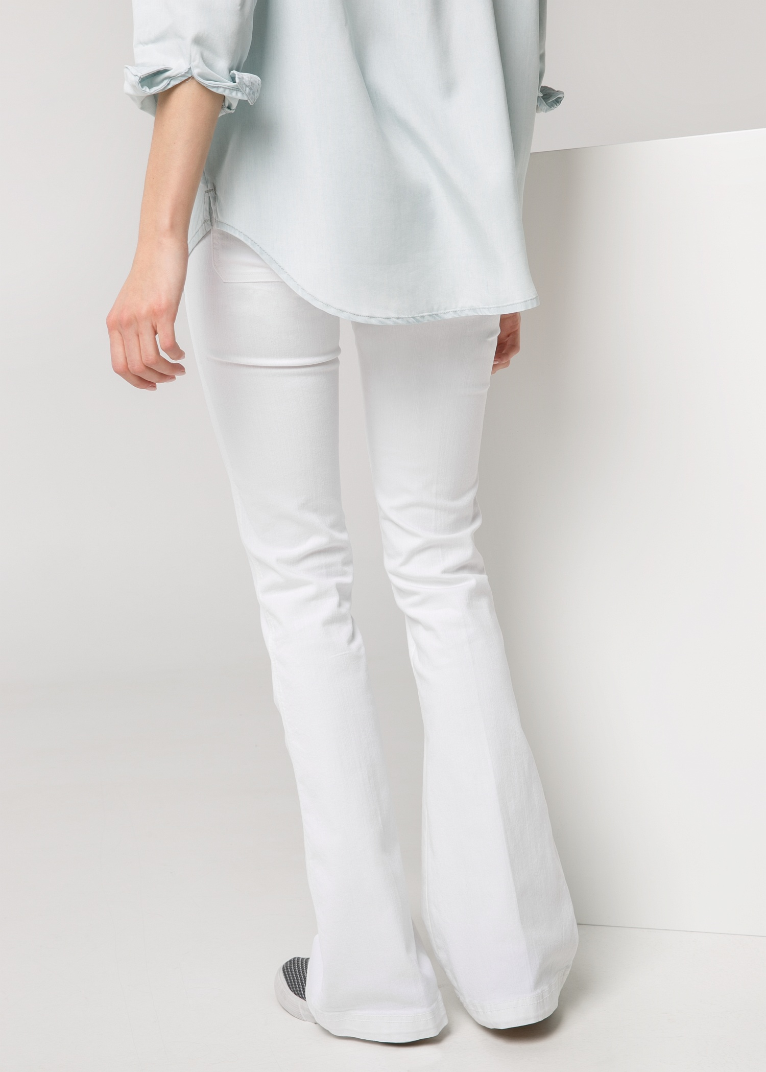 Mango Flared Flare Jeans in White | Lyst