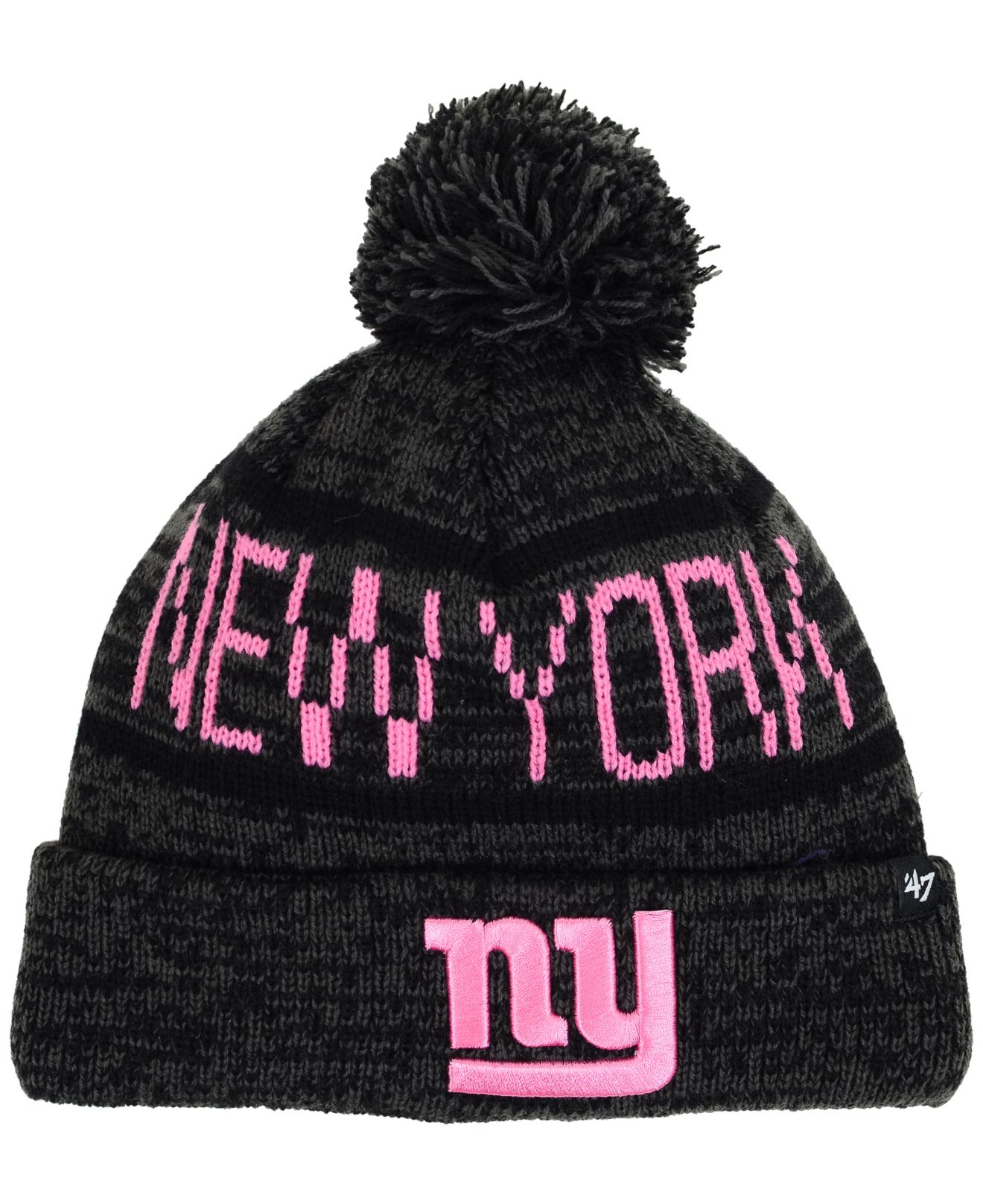 36eabecad27 Lyst - 47 Brand Women s New York Giants Northmont Pom Knit Hat in Gray