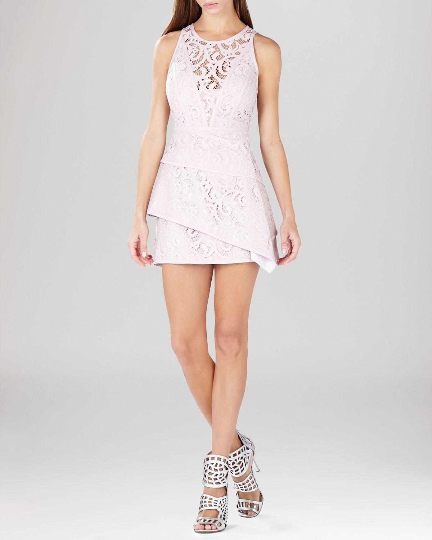bcbgmaxazria dress hanah lace asymmetric tiered skirt