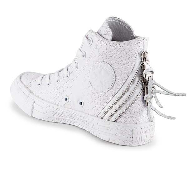 33566af7bd21 Converse Women S Chuck Taylor All Star Leather Tri-Zip Hi-Top ...