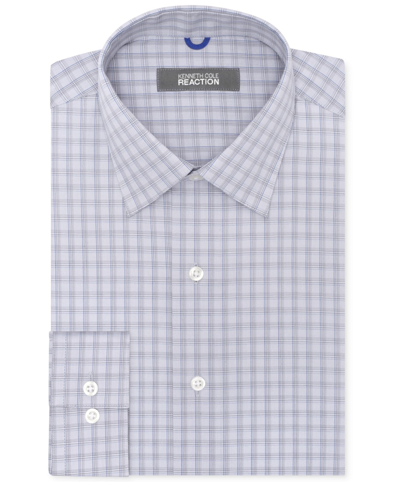 Lyst kenneth cole reaction non iron slim fit thunder for What is a non iron shirt