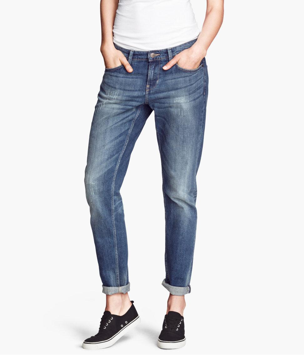 H&m Boyfriend Jeans Slim Fit in Blue | Lyst