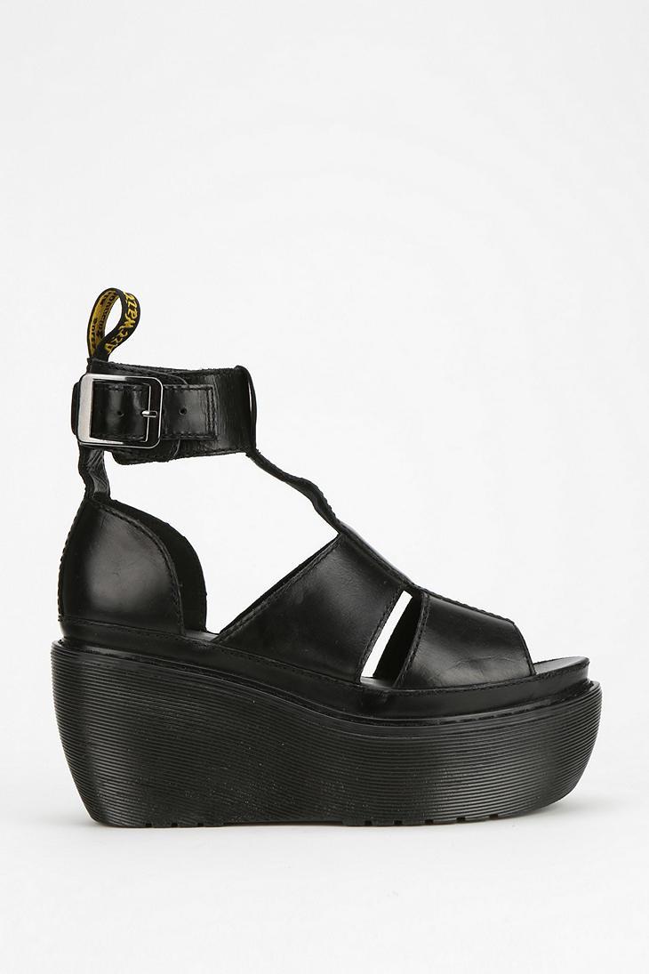 ccd333bcbb6d Lyst - Dr. Martens Bessie Platform Wedge Sandal in Black