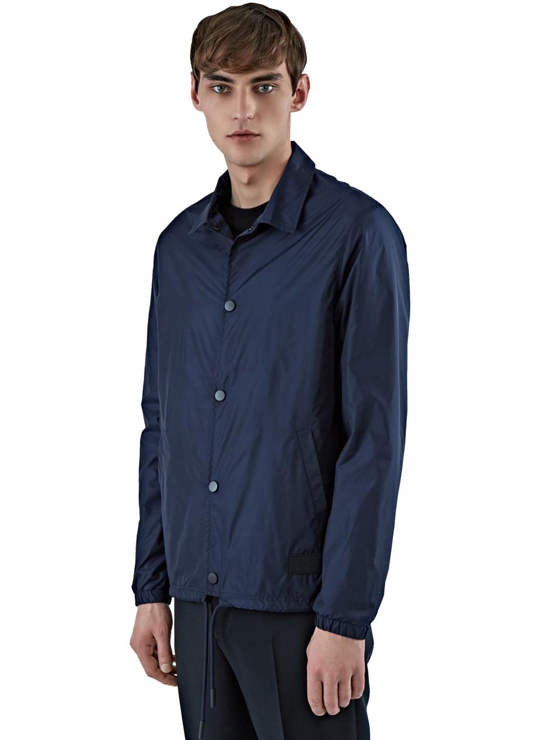 22cd53b7 Acne Studios Tony Face Coach Jacket in Blue for Men - Lyst