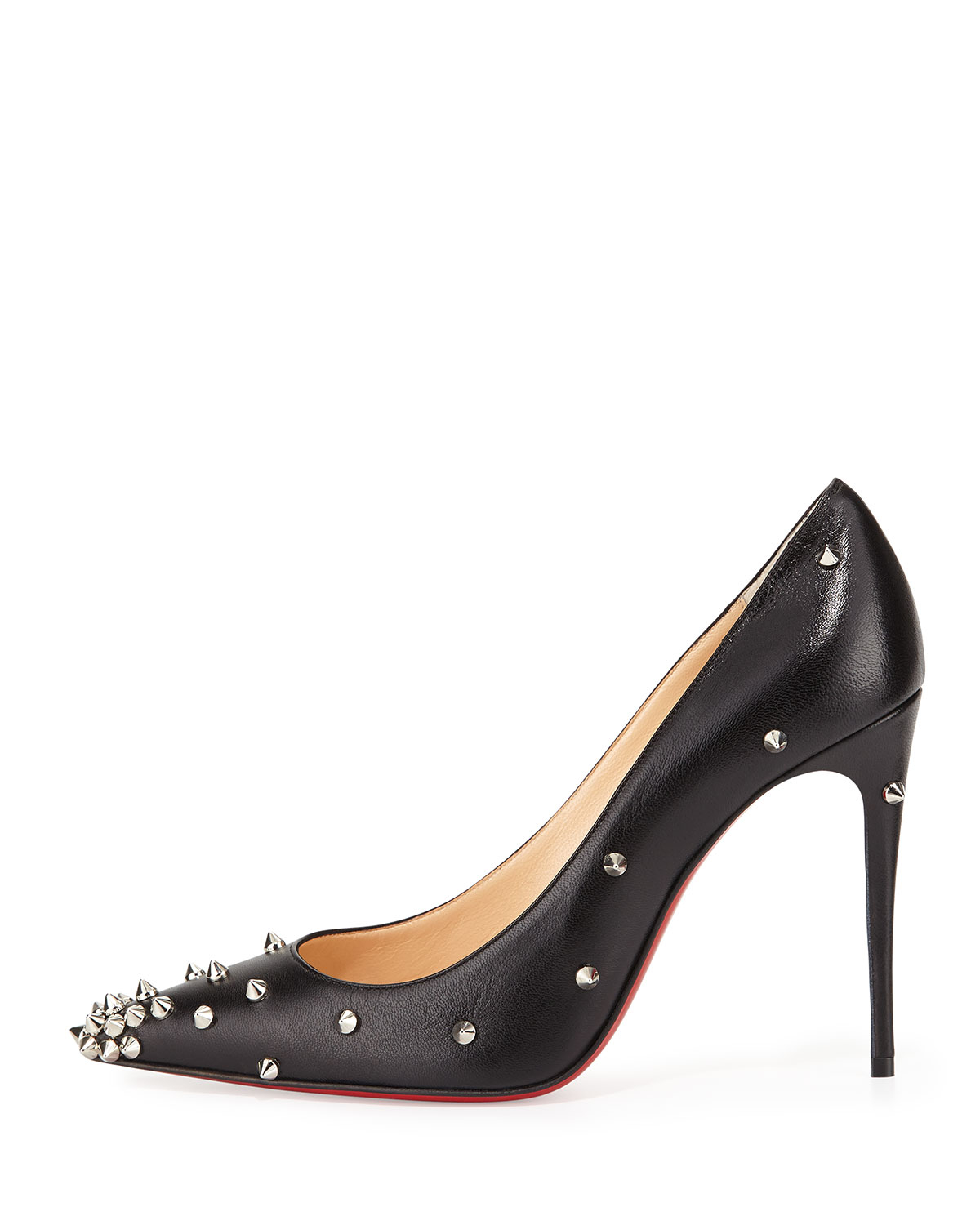 Christian louboutin Degraspike Studded Leather Red Sole Pump in ...