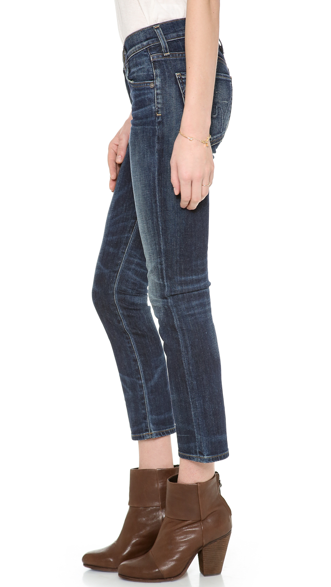 Citizens of humanity Phoebe Cropped Jeans - Patina in Blue (Patina) | Lyst