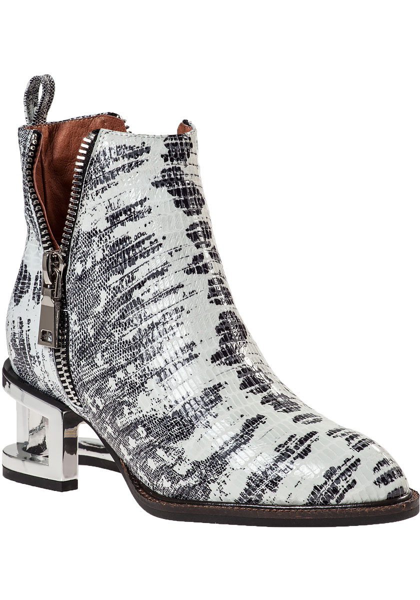 Lyst Jeffrey Campbell Boone Ankle Boot Grey Snake In Gray