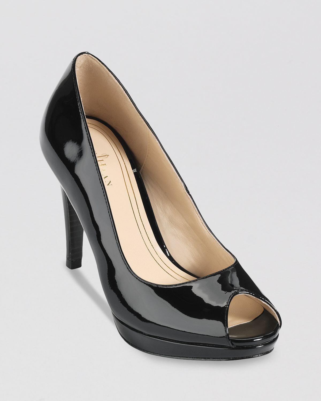 ac460d2c4d1d Lyst - Cole Haan Peep Toe Platform Pumps Chelsea High Heel in Black