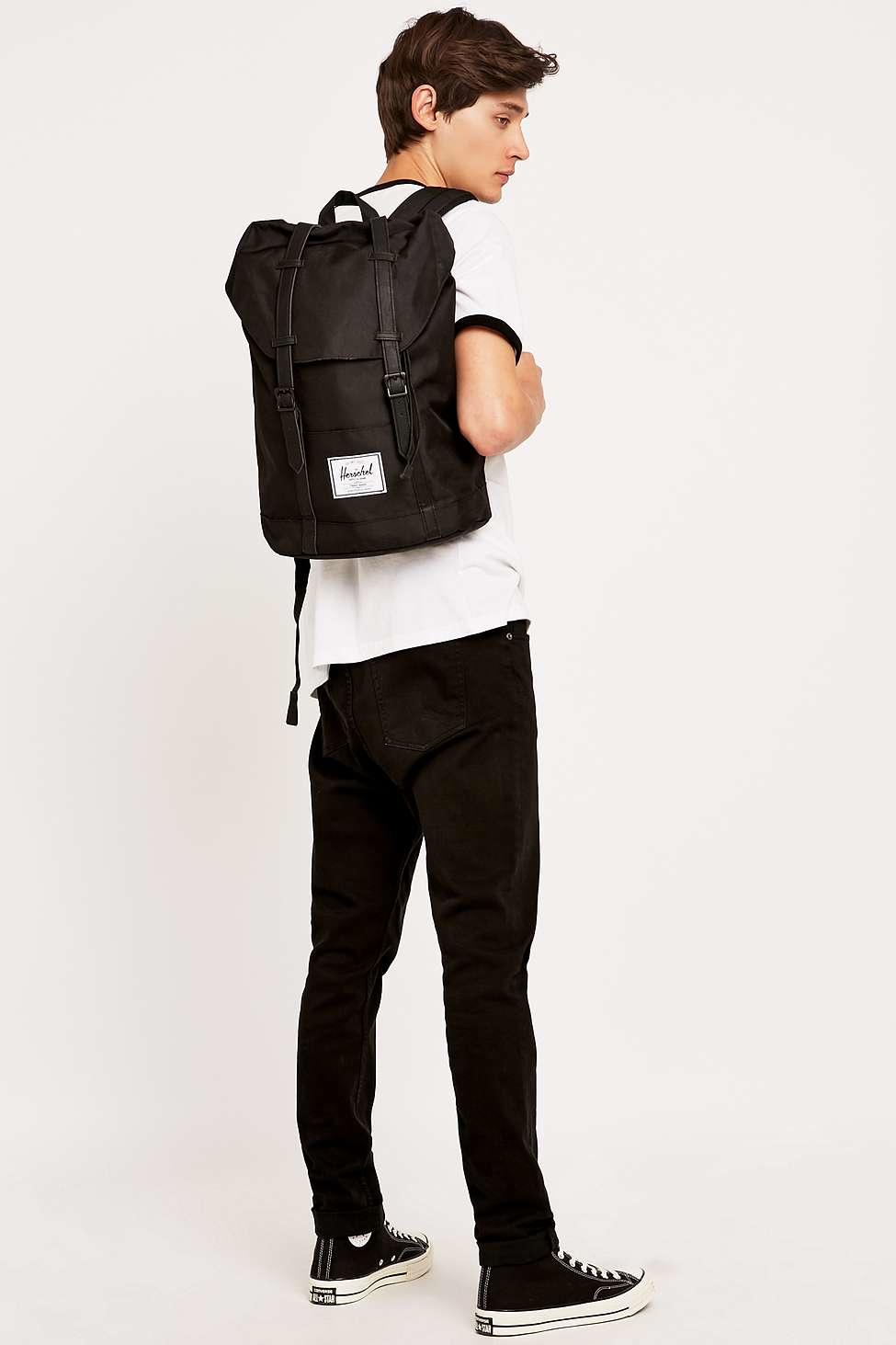 Herschel Supply Co Retreat Black Backpack In Black For