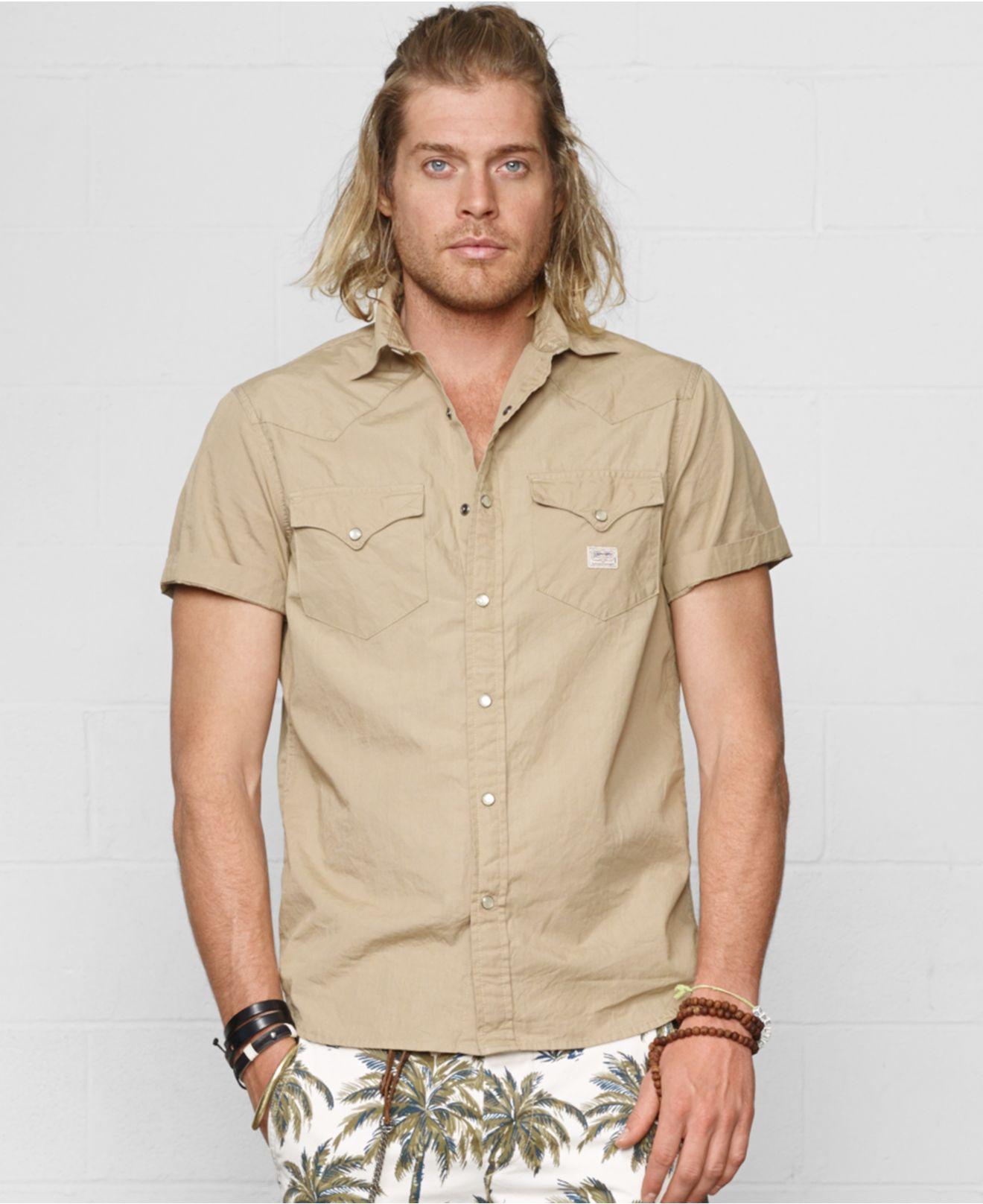 2ba541d1ac Lyst - Denim   Supply Ralph Lauren Poplin Cowboy Shirt in Natural ...