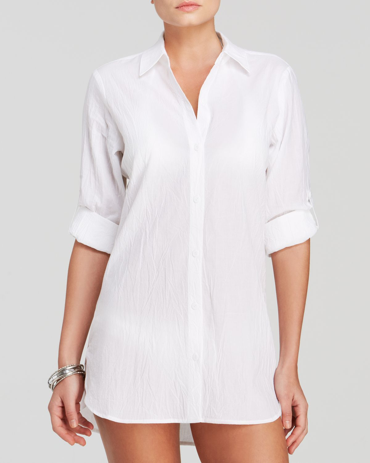 Lyst Tommy Bahama Crinkle Cotton Boyfriend Shirt Swim