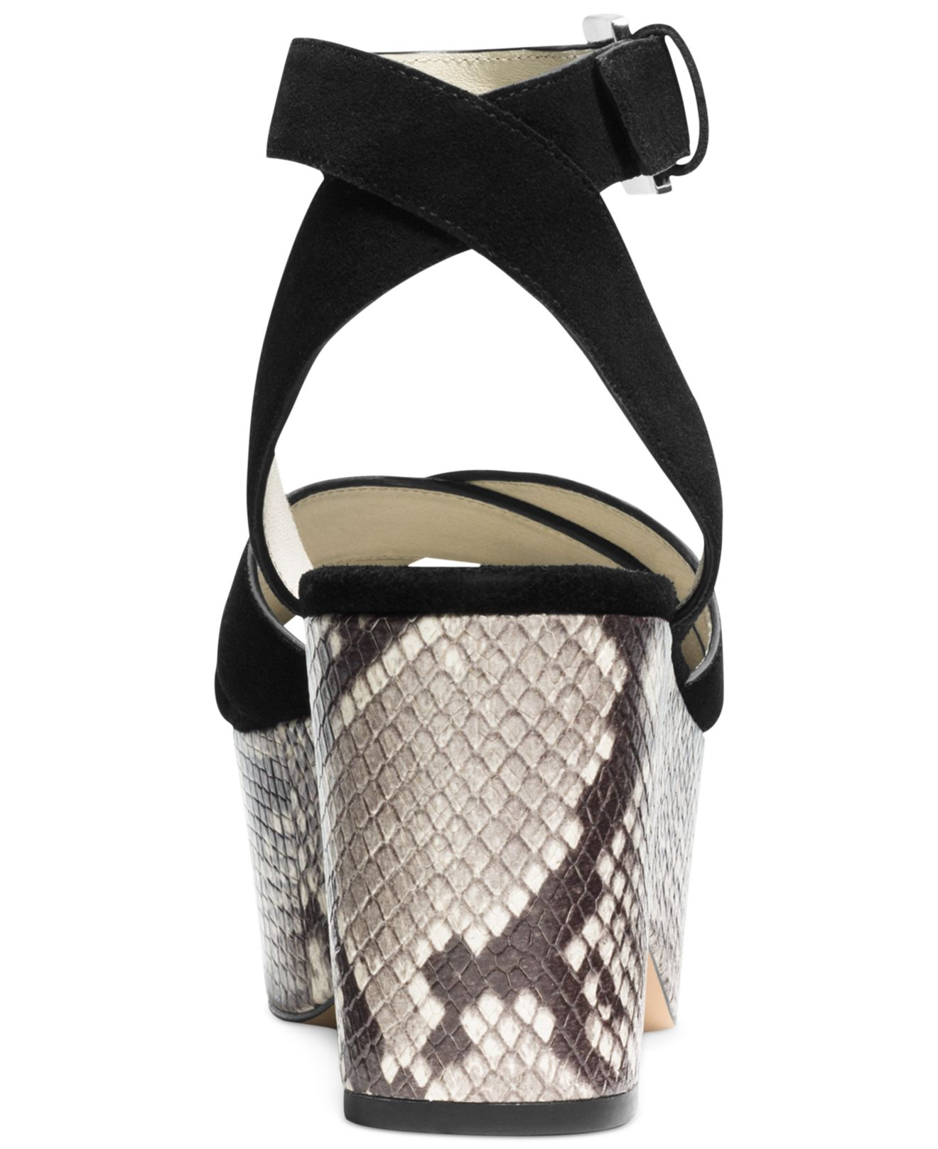 41feae543e4 Lyst - Michael Kors Michael Ariel Platform Wedge Sandals in Black