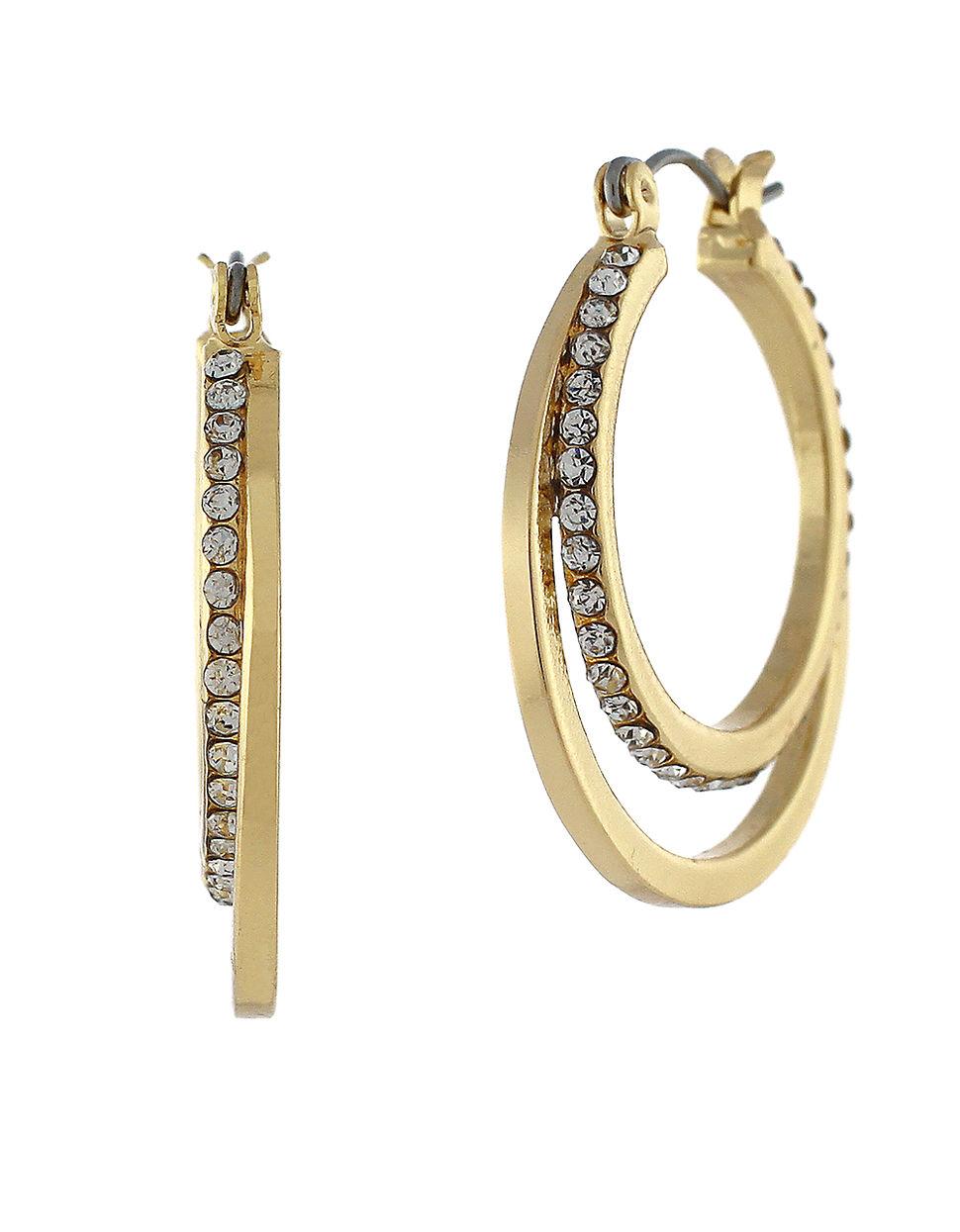 Bcbgeneration Double Hoop Earrings In Metallic Lyst