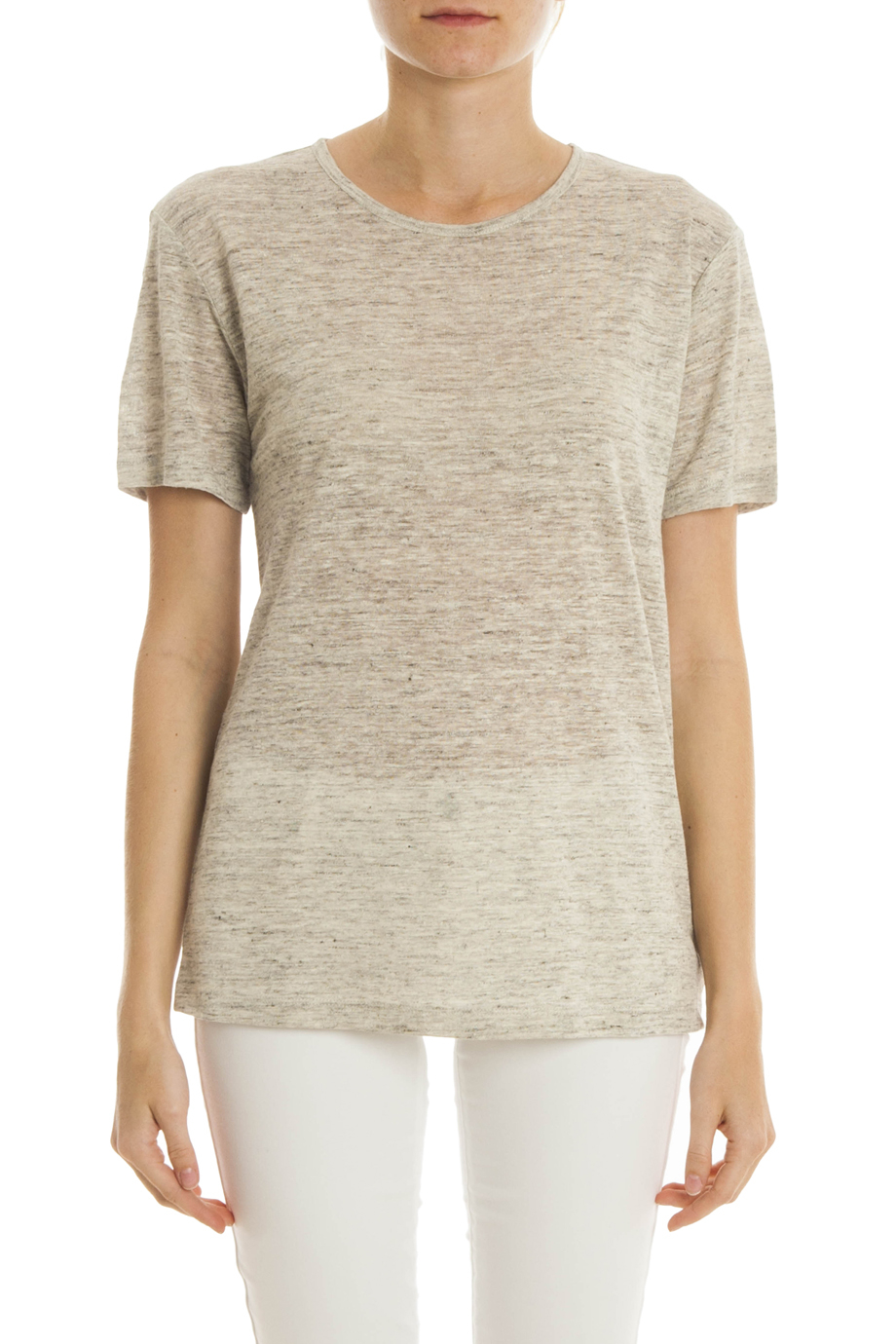 T by alexander wang heather jersey t shirt in gray lyst for T by alexander wang t shirt