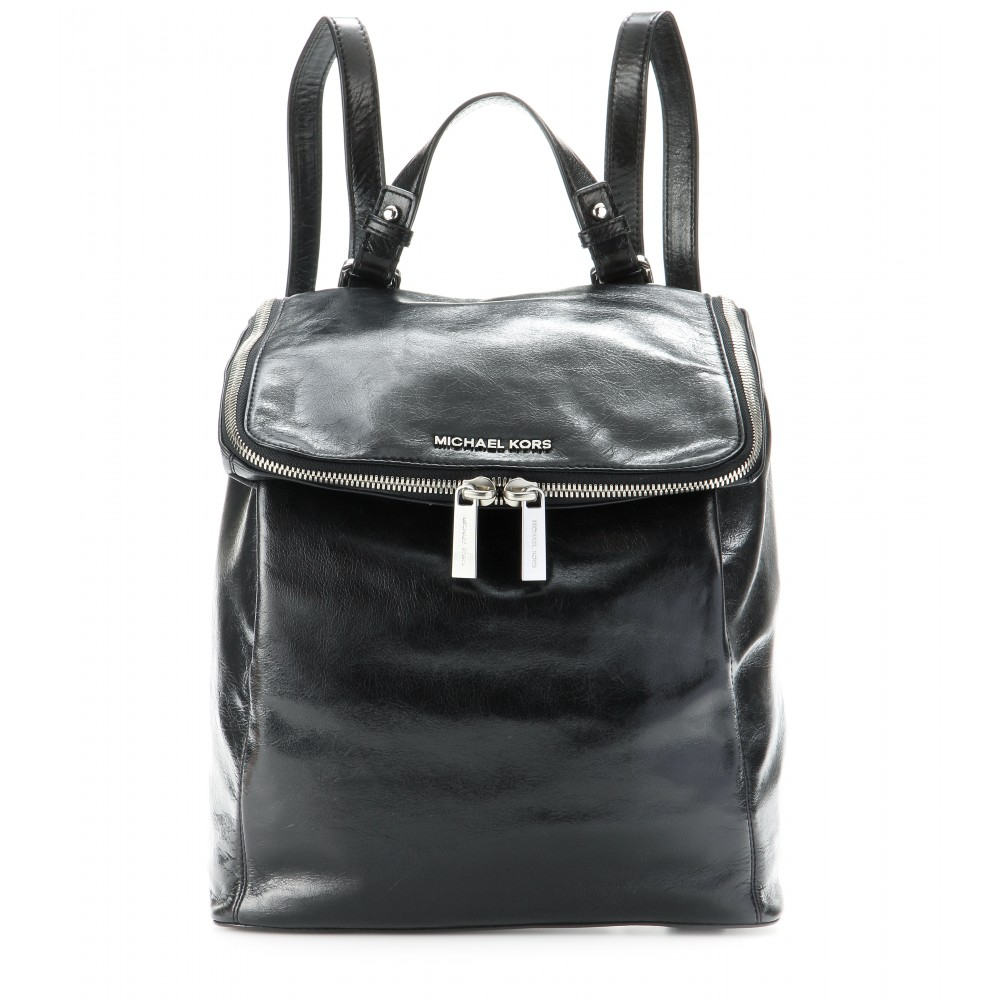 3a5b70bd585e ... australia lyst michael michael kors lisbeth leather backpack in black  50e80 f0fb9