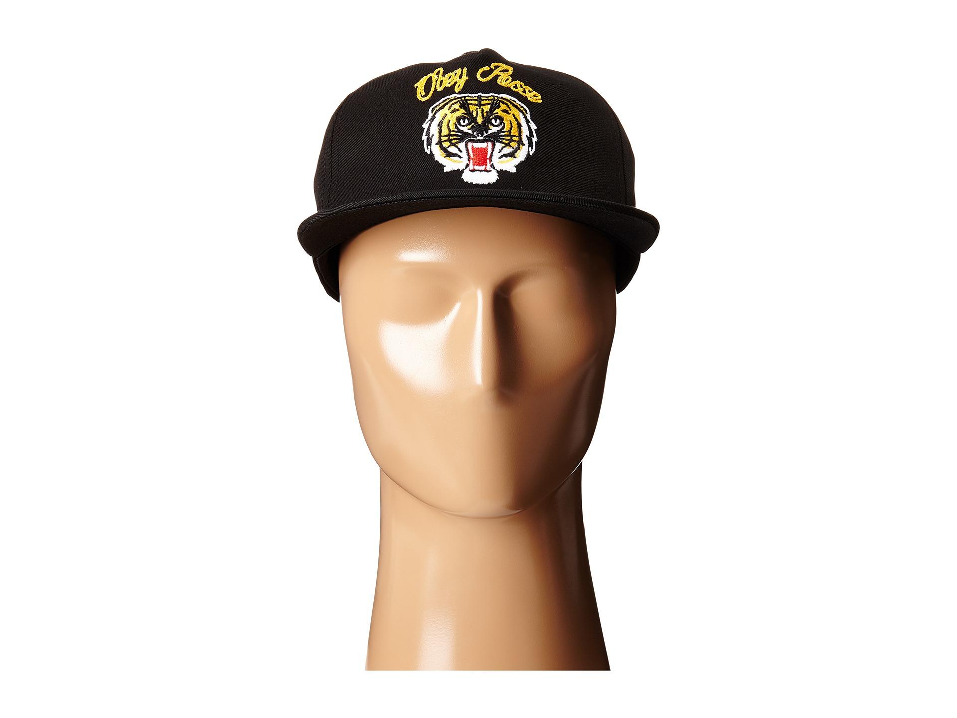 52e9b4ca18b Lyst - Obey Tiger Snapback in Black for Men