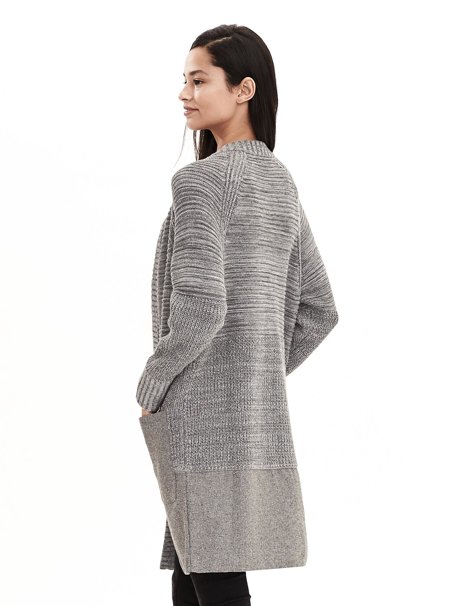 Tweed Sweater Coat | Down Coat