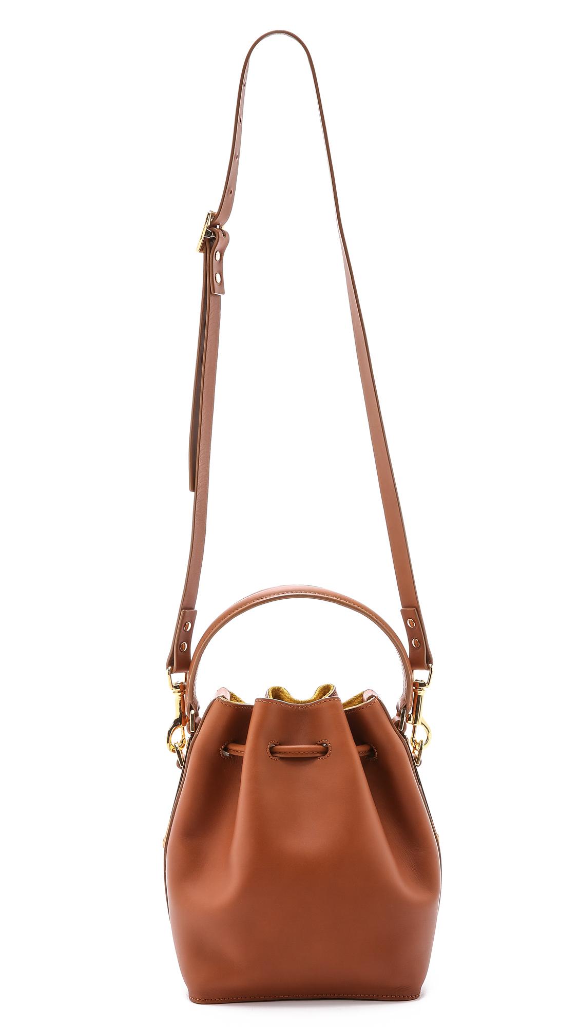 Sophie hulme Small Drawstring Bucket Bag in Brown   Lyst