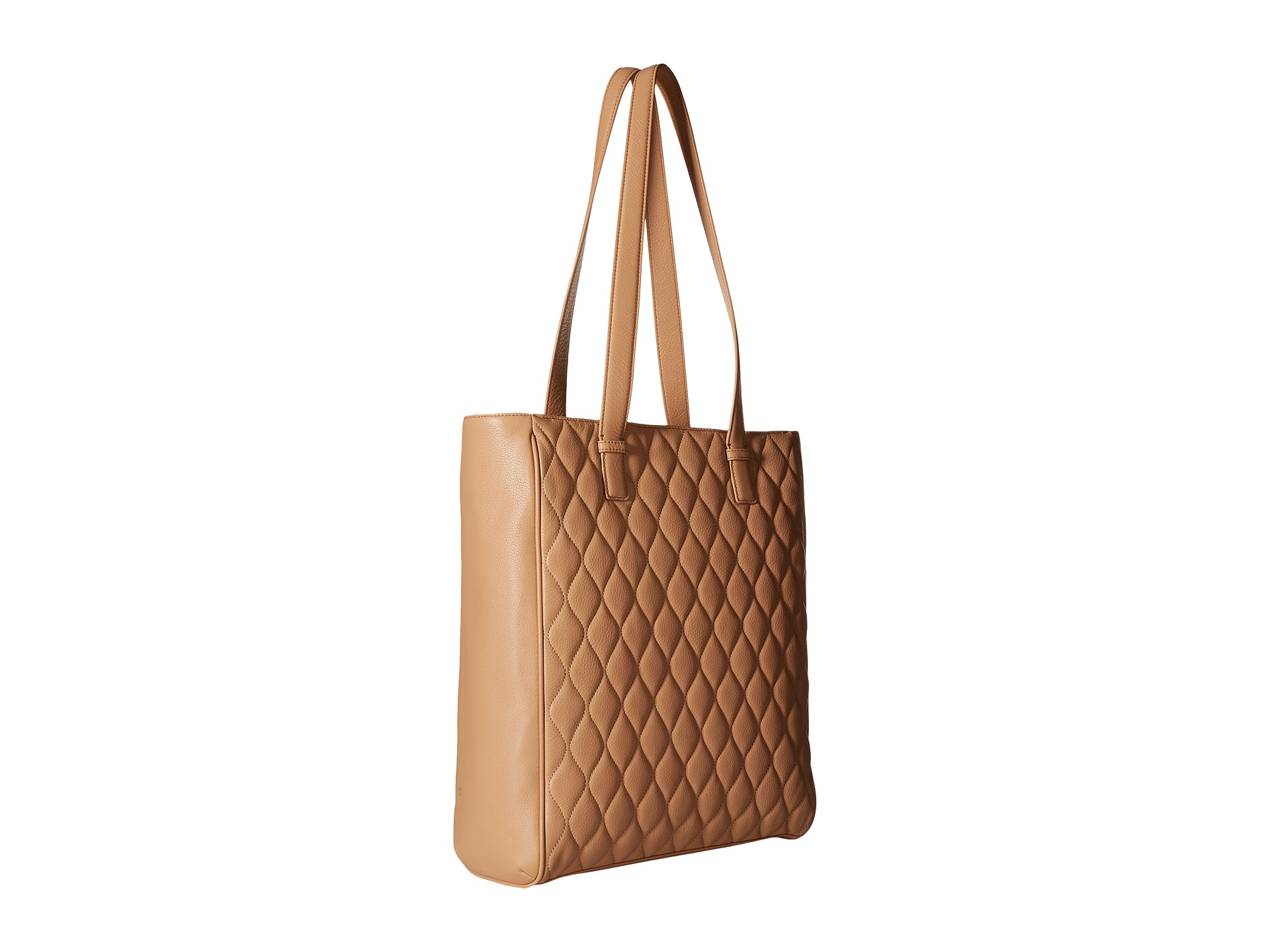 8d4c68798c Lyst - Vera Bradley Quilted Leah Tote in Natural