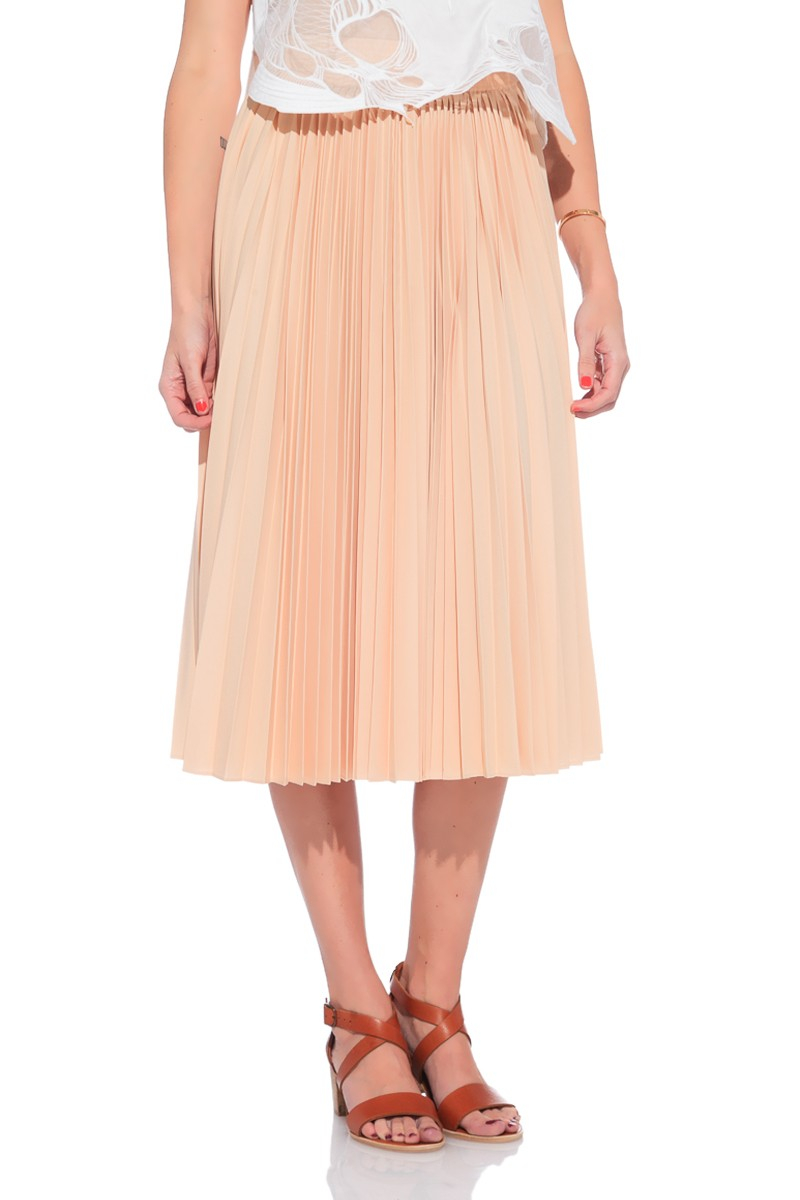 10 crosby derek lam pleated skirt in beige lyst
