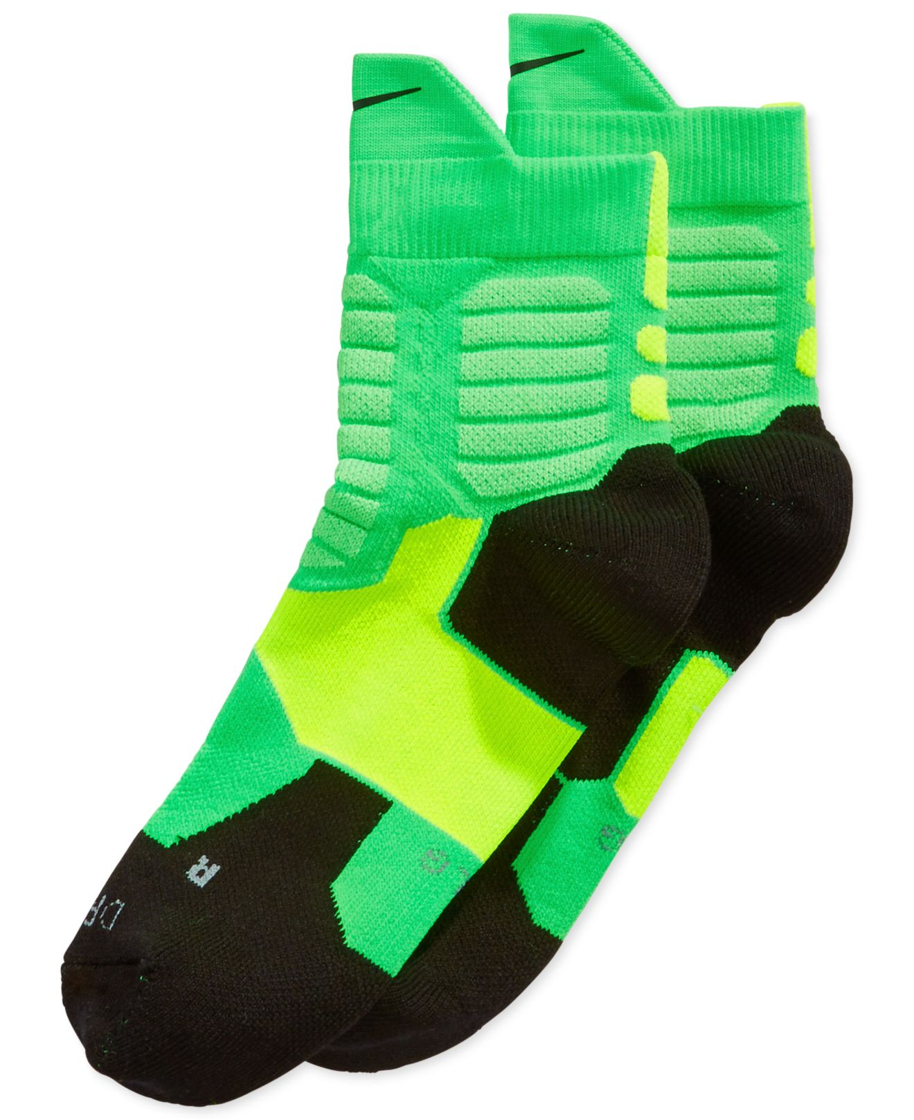 Nike Kd Hyper Elite High Quarter Basketball Socks in Green ...