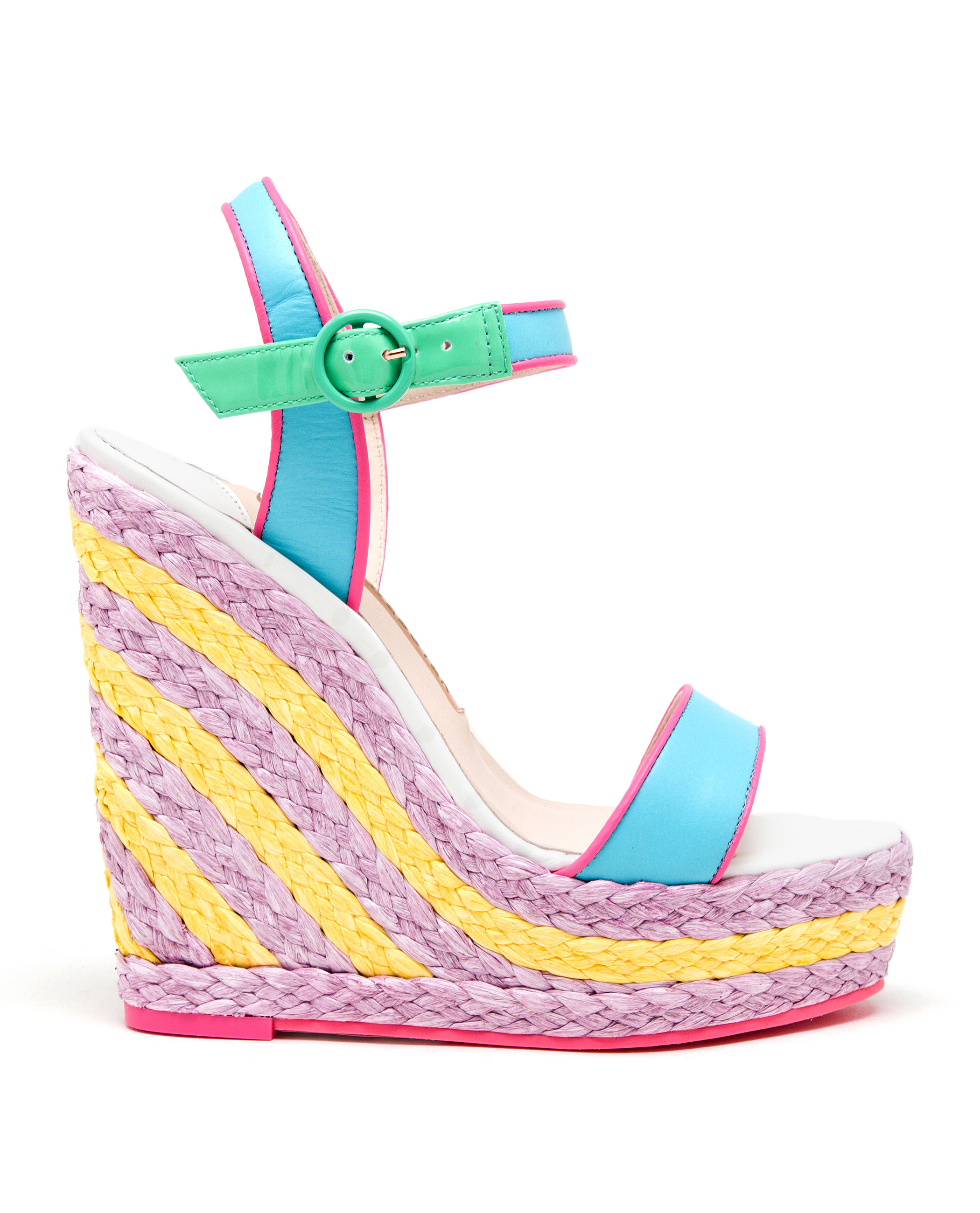 Sophia Webster Lucita Malibu Wedge Sandals in Blue - Lyst