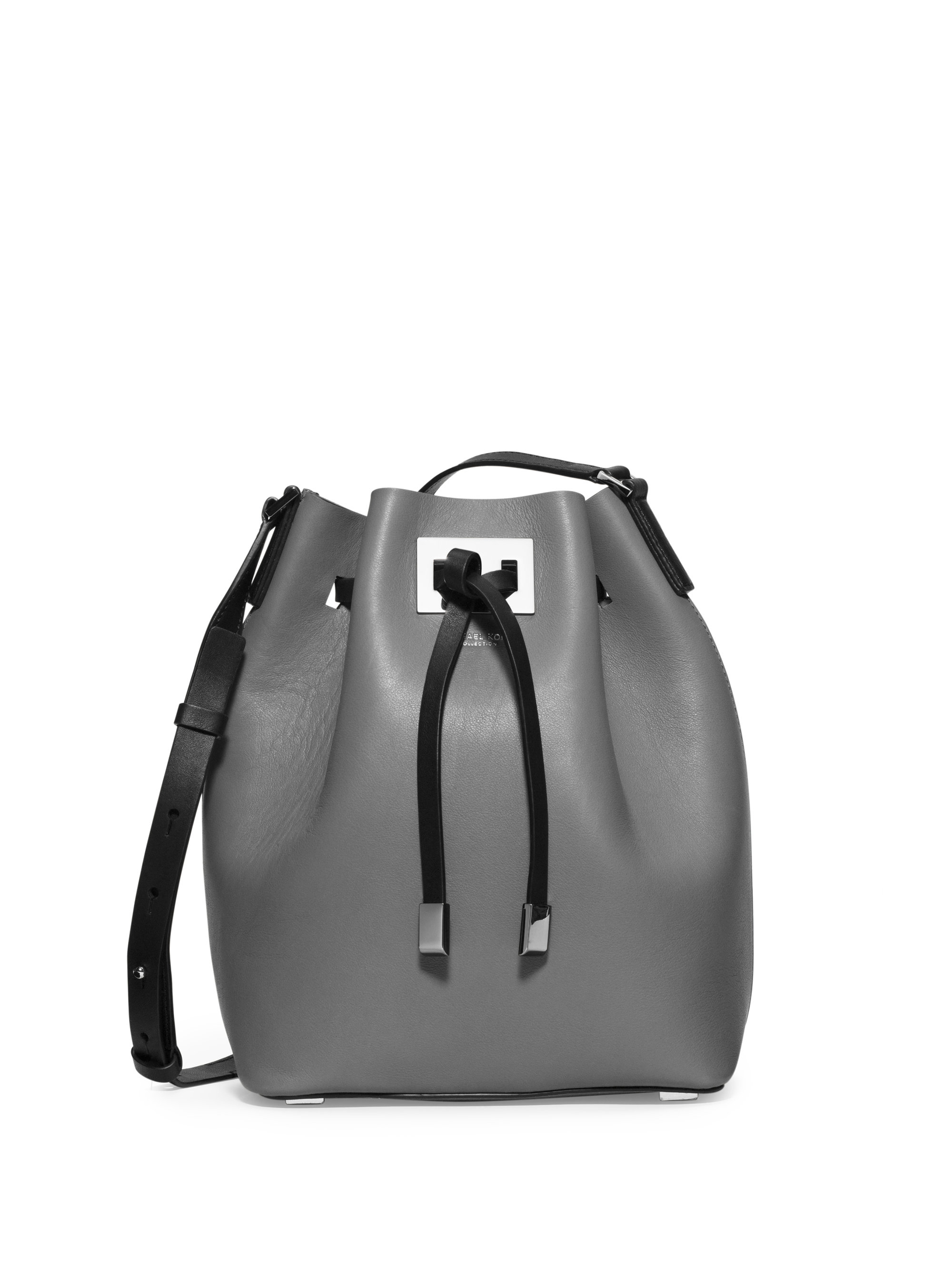 Michael Kors Miranda Medium Colorblock Leather Bucket Bag