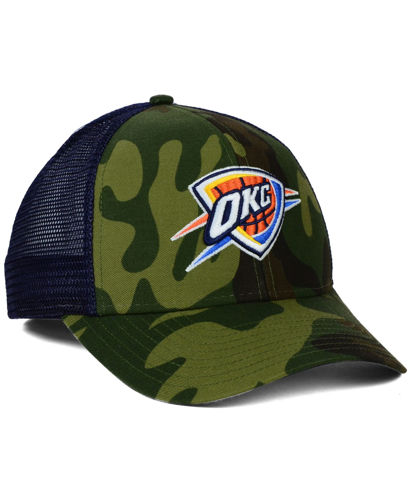 san francisco ab7a6 e02b2 adidas Oklahoma City Thunder Camo Trucker Cap in Green for Men - Lyst