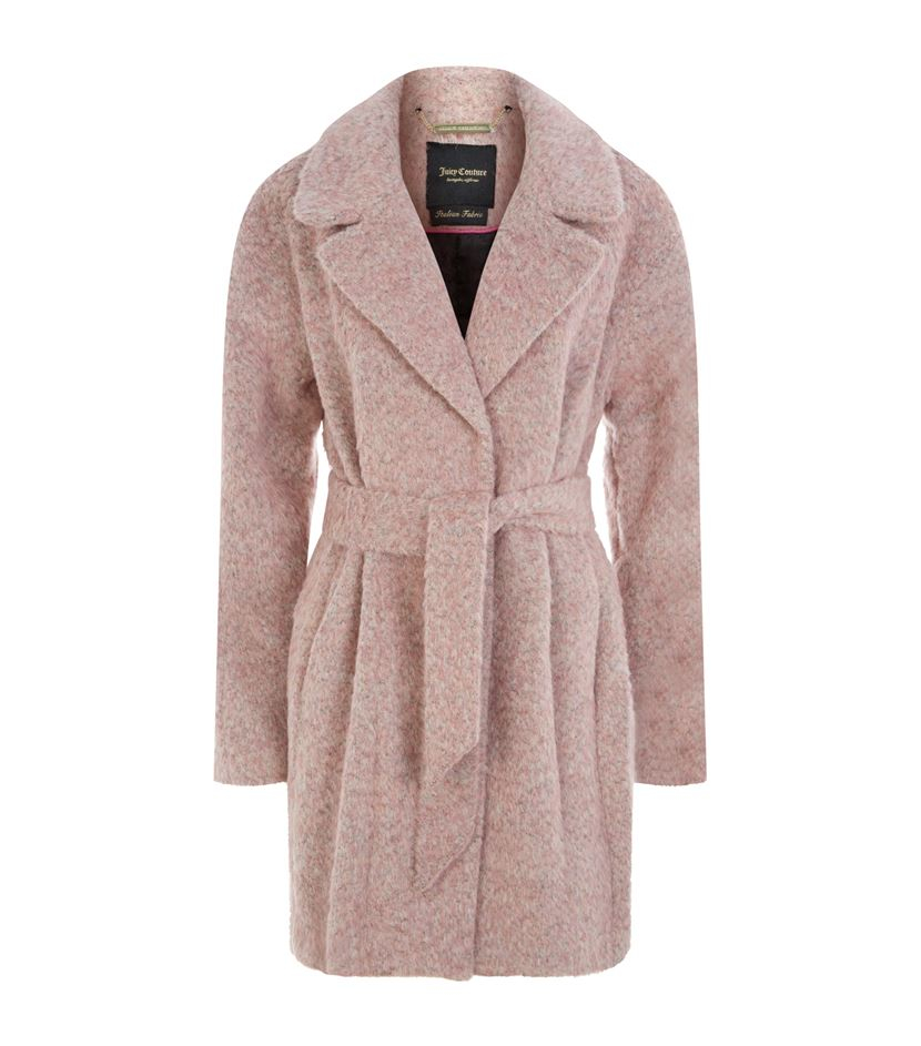 58b1b644cc99 Juicy Couture Brushed Wool Coat in Pink - Lyst