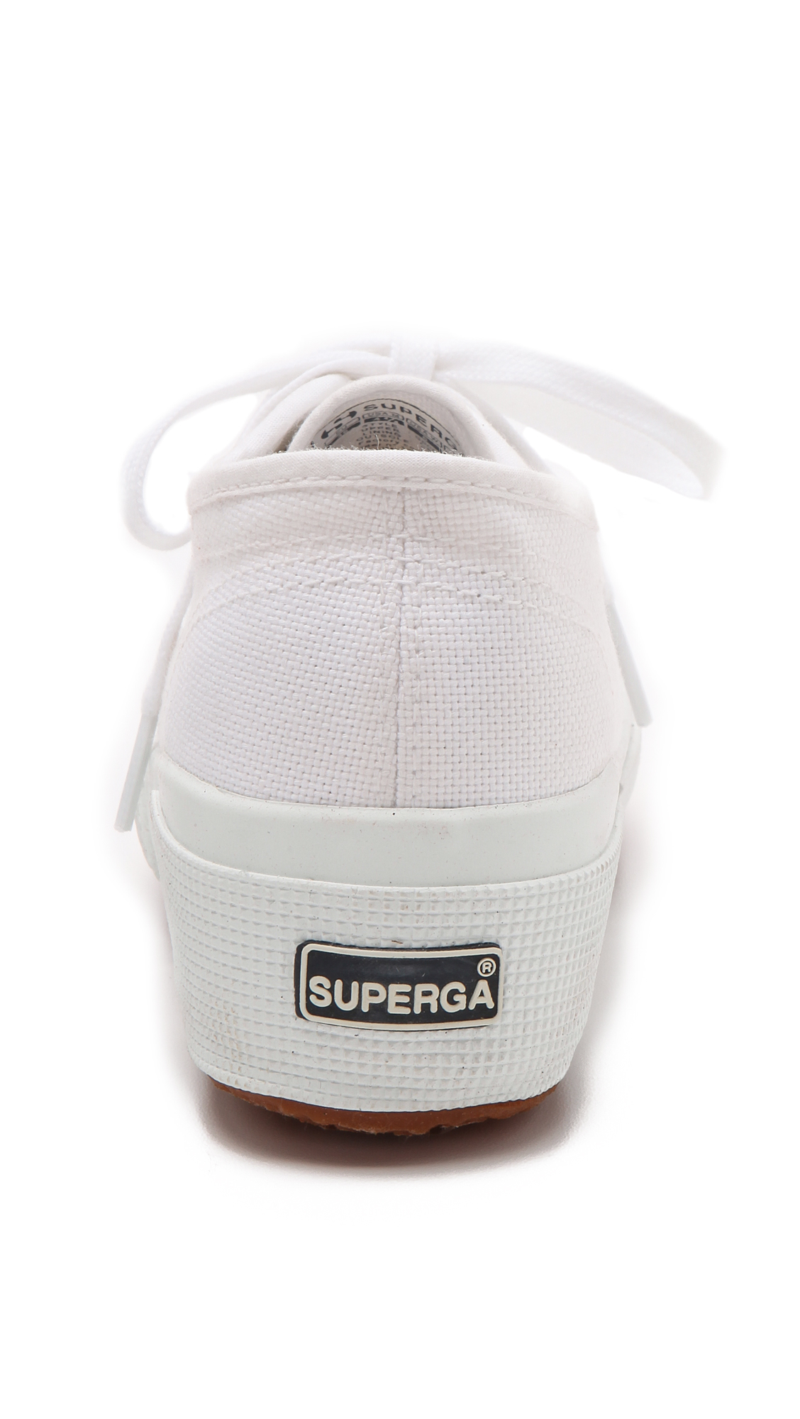 789147b04b71 Lyst - Superga Cotu Wedge Sneakers - White in White