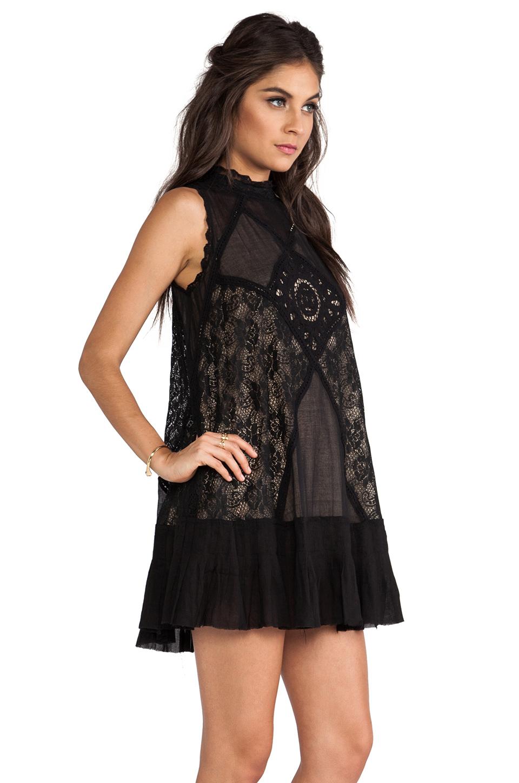 Lyst Free People Angel Lace Dress In Black