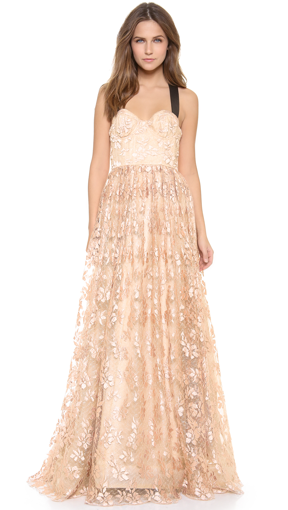 Lyst - Alice + Olivia Alice Olivia Chris Bustier Ball Gown in Natural