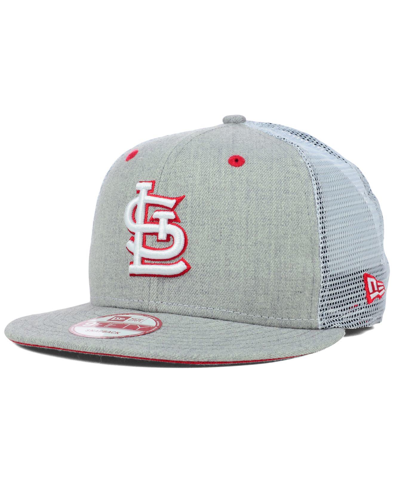 Lyst - KTZ St. Louis Cardinals Heather Trucker 9Fifty Snapback Cap ... fc0115016ea
