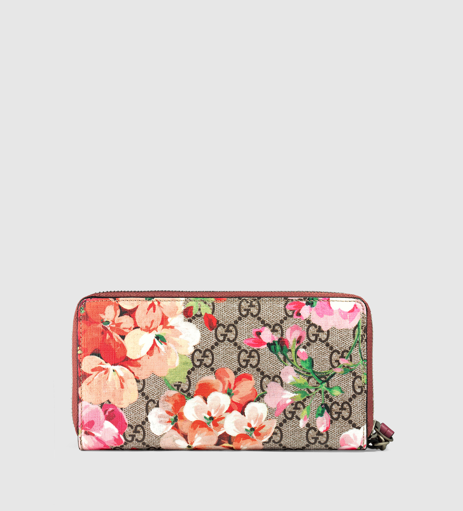 e881472974ae97 Gucci Gg Blooms Wrist Wallet in Pink - Lyst