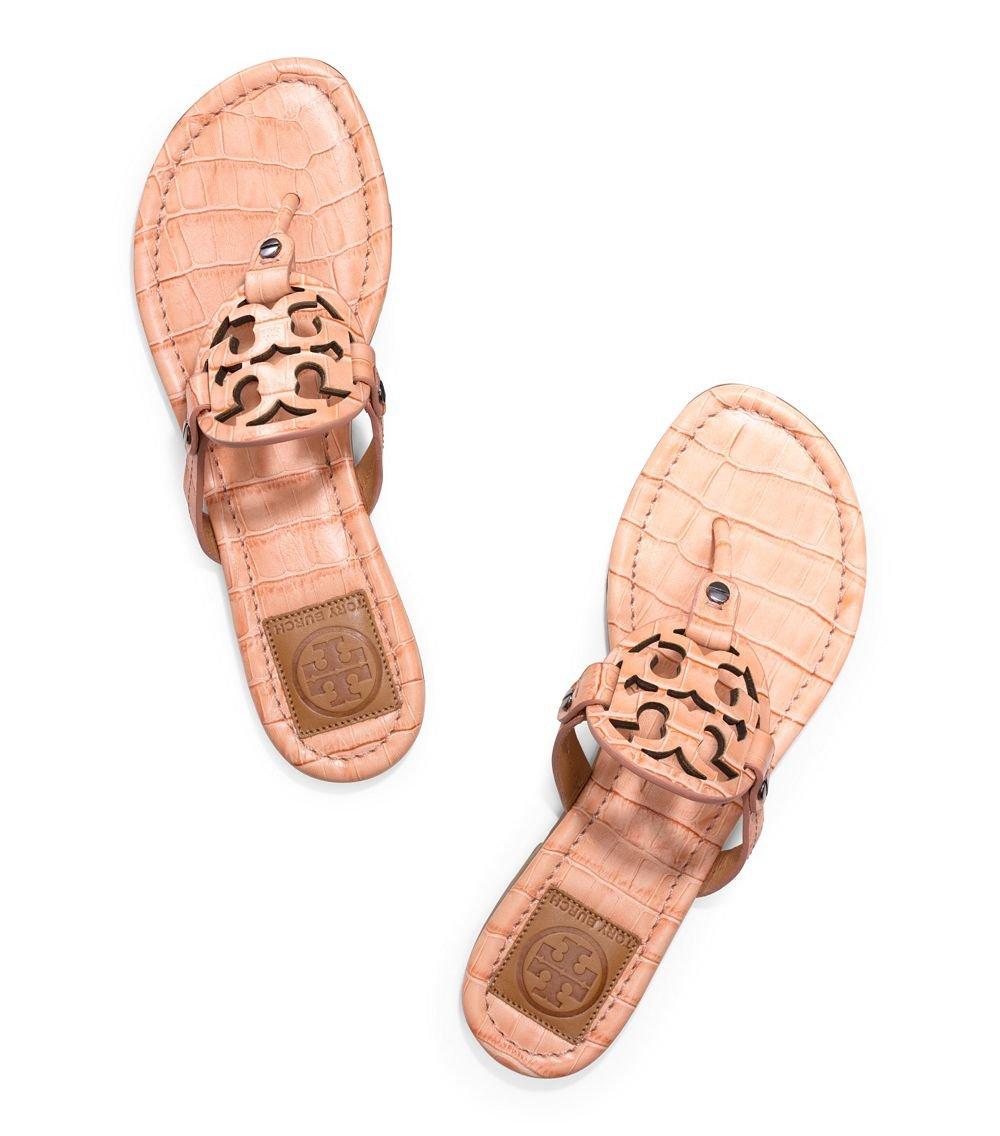 068a05a177b5 Lyst - Tory Burch Miller Croc-Print Sandal in Metallic