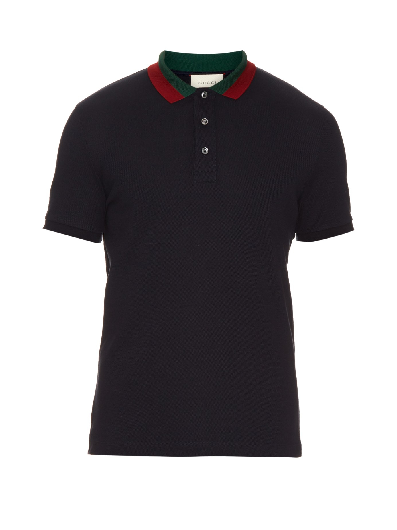 8b637c379d5 Gucci Polo Shirts. Gucci Floral-embroidered Cotton-blend Polo Shirt in Black  for Men
